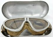 Ww2 Strauss And Buegeleisen Us Goggles And Case