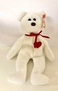 Ty Valentino Bear With Brown Nose And Errors. Rare Retired