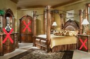 Aico By Michael Amini Monte Carlo Series Solid Wood King Size Bed. Only Bed