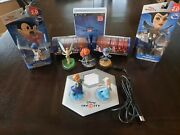 Disney Infinity Mint 1.0/2.0 Lot W/2.0 Ps3 Game + Scan Pad, Discs, And Figures