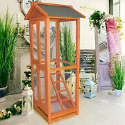 Vilobos 58 Wooden Bird Cage Large Play Top Parrot Finch Macaw Cockatoo House