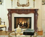 Pearl Mantels 134-48-30 Deauville Fireplace Mantel 48-inch Fruitwood