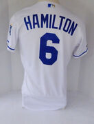 2019 Kansas City Royals Billy Hamilton 6 Game Issued White Jersey 150 P 4320