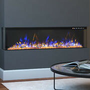 Regal Flame 43-inch Spectrum Modern Linear Electric 3 Sided Wall Mounted Built-i