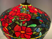 Pool Table Lamp Style Stained Glass Blue Red 25andrdquo Hanging Ceiling Light