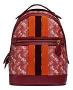 Coach Lunar New Year Barrow Backpack With Horse And Carriage Printand Varsity Stripe