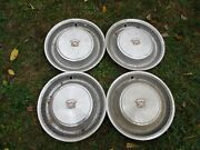 Set Of Four Cadillac 1970s 15 Hubcaps Preowned Made In Canada