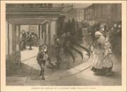 Beer Saloon East Side New York Child Takes Pitcher Away Antique 1892
