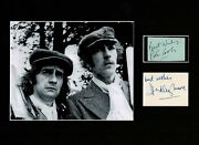 Peter Cook And Dudley Moore Derek And Clive Signed Autograph Display Uacc