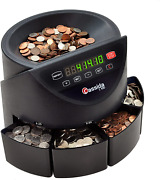 Business Coin Sorter Counter Machine Automatic Digital Counting All Us Coins