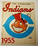 1955 Cleveland Indians Official Yearbook Mlb Baseball Good Shape Cool And Rare