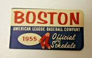 1955 Boston Red Sox Official Mlb Baseball Schedule Beyond Rare And Cool