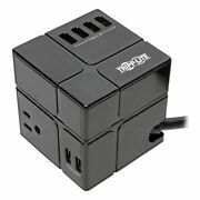 Tripp Lite Three-outlet Power Cube Surge Protector With Six Usb-a Ports Surg...
