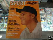 1962 Sport Magazine Mickey Mantle Cover