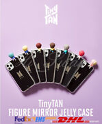 [bts] - Bts Tinytan Character Figure Mirror Jelly Phone Case - Iphone / Galaxy