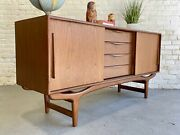 Sculptural Mid Century Modern Styled Credenza / Sideboard / Media Stand