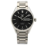 Tag Heuer Carrera Day Date Steel Black Dial Automatic Mens Watch War201a.ba0723