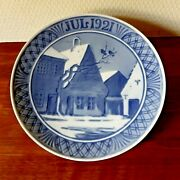 Antique 1921 Christmas Plate 18 Cm Old Houses At Town Square Royal Copenhagen 1