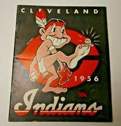 1956 Cleveland Indians Official Yearbook Mlb Baseball Good Shape Cool And Rare