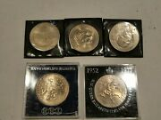 Lot Of 5 1965 Winston Churchill Coin And 1977 Queen Elizabeth Ii Jubilee And Diana 2