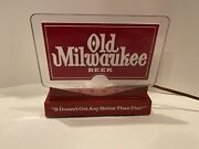 """Vtg Old Milwaukee Lighted Beer Sign, """"it Doesn't Get Any Better Than This"""""""