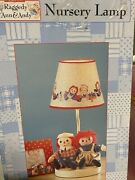 Raggedy Ann Nursery Lamp , Used For Display Only.