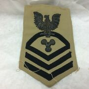 Vintage Military Patch Navy Machinist's Mate Bullion Variant Chief Petty Cpo