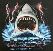 Vintage Mens Size M Jaws Universal Studios T Shirt Double Sided Jerzees Tag