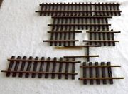 Aristocraft Lgb Mixed Lot 7 Pieces 17 Inch Down  Track Brass G Scale