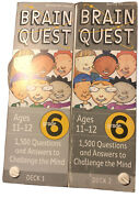 Brain Quest Decks Grade 6 Lot Of 2 Deck 1 And 2 Revised 4th Edition