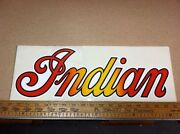 Lot Of 4 Vintage Indian Motorcycles Decals.18 X 6 1/2 Inches. Nos Stickers.
