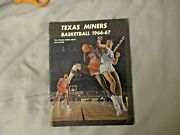 1966-67 Texas Western Basketball Media Guide Yearbook 1965-66 Champs Pat Riley