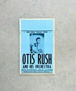 Blues Poster Otis Rush And His Orchestra Original 1957 His First Texas Tour