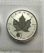 Panda Privy - 2016 1 Oz Sealed Silver Maple Leaf Reverse Proof Coin - In Stock