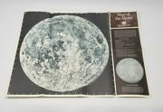 Vintage 1960s Esso Map Of The Moon - Humble Oil - Space Race Gas Station Promo