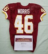 46 Alfred Morris Of Redskins Nfl Game Worn And Unwashed Jersey Vs Giants Coa