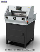 New 490mm 19.3 Paper Guillotine Cutter Stack Cutting Trimmer Programmable +ce