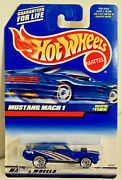Hot Wheels 1999 Collector 1105 Ford Mustang Mach I Blue 164 Uncirculated