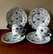 Butterfly 2 X Trio Coffee Sets 102+28 Bing And Grondahl Royal Copenhagen 1948-52
