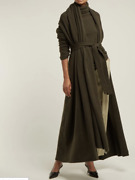 The Row Gioli Oversized Cashmere-blend Cardigan In Dark Olive
