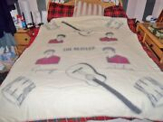 The Beatles Official Witney Wool Blanket From 1964 Grand Condition 60 X 70