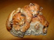 Lenox Nature's Young Played Out Cub Figurine 1988 Free U.s. Shipping