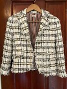 Thom Browne Ribbon Tweed Unconstructed Classic Jacket Size 36 Nwt