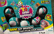 5 Surprise Toy Mini Brands Ball Capsule Mystery By Zuru 5 Pack Bundle New Blue