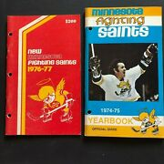 1974-1978 Wha World Hockey Association Team Media Guide Collection Of 14