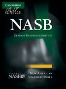Nasb Clarion Reference Bible, Black Calf Split Leather, Ns484x 9781107604162