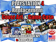 Ps4 Playstation 4 Replacement Game Cover Art Box Art And Game Case