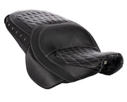 Indian Motorcycle Black Leather Heated Touring Seat For 2014-2020 Chief Models