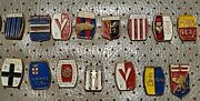 Lot Of 31 Old Vintage Pins Badges Of Soccer/foodball Italian League-juventus....