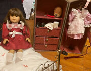 Pleasant Company American Girl Samantha Retired Historical Rare Lot Trunk Bed